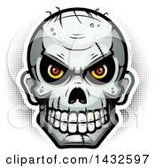 Poster, Art Print Of Halftone Evil Zombie Skull