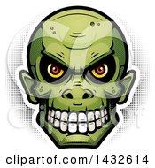 Poster, Art Print Of Halftone Goblin Skull