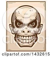 Poster, Art Print Of Halftone Goblin Skull Poster Design