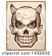 Clipart Of A Halftone Devil Skull Poster Design Royalty Free Vector Illustration by Cory Thoman