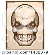 Poster, Art Print Of Halftone Alien Skull Poster Design