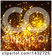Clipart Of A Golden Sparkle Christmas Background Royalty Free Vector Illustration