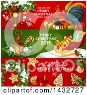 Clipart Of Christmas Website Banner Headers Royalty Free Vector Illustration by Vector Tradition SM