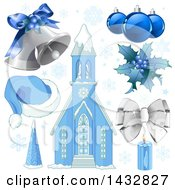 Blue Christmas Elements