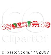 Clipart Of A Patterned Word Christmas Royalty Free Vector Illustration