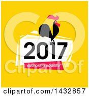 Clipart Of A 2017 Year Of The Rooster Chinese Zodiac Design Royalty Free Vector Illustration by elena