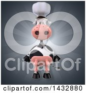 Clipart Of A 3d Chef Cow Royalty Free Illustration