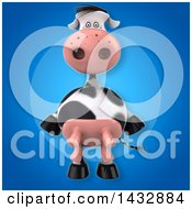 Clipart Of A 3d Cow Royalty Free Illustration