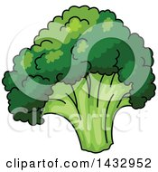 Clipart Of A Cartoon Head Of Broccoli Royalty Free Vector Illustration by Vector Tradition SM