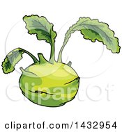 Clipart Of A Cartoon Kohlrabi Royalty Free Vector Illustration by Vector Tradition SM