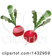 Clipart Of Radishes Royalty Free Vector Illustration