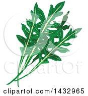 Clipart Of Arugula Greens Royalty Free Vector Illustration