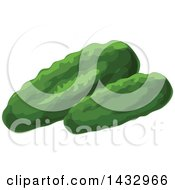 Clipart Of Cucumbers Royalty Free Vector Illustration by Vector Tradition SM
