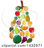 Clipart Of A Pear Formed Of Fruits Royalty Free Vector Illustration by Vector Tradition SM