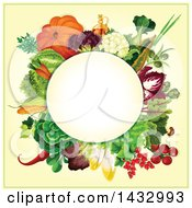 Clipart Of A Circle Label Of Produce Royalty Free Vector Illustration
