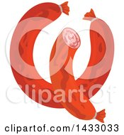 Clipart Of Sausages Royalty Free Vector Illustration