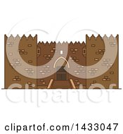 Clipart Of A Line Drawing Styled Israel Landmark Damascus Gate Royalty Free Vector Illustration by Vector Tradition SM
