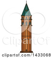 Clipart Of A Line Drawing Styled Turkey Landmark Galata Tower Royalty Free Vector Illustration by Vector Tradition SM