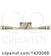 Clipart Of A Line Drawing Styled Turkey Landmark Anitkabir Royalty Free Vector Illustration by Vector Tradition SM