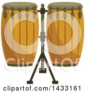 Clipart Of Conga Drums Royalty Free Vector Illustration by Vector Tradition SM