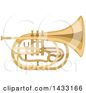 Clipart Of A Mellophone Horn Instrument Royalty Free Vector Illustration