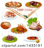 Clipart Of Polish Cuisine With Text Royalty Free Vector Illustration by Vector Tradition SM