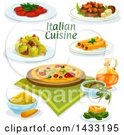 Italian Cuisine With Text