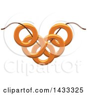 Clipart Of A String With Bagels Royalty Free Vector Illustration by Vector Tradition SM