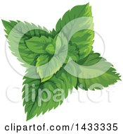 Clipart Of Mint Leaves Royalty Free Vector Illustration by Vector Tradition SM