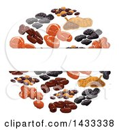 Clipart Of A Blank Label Over A Circle Of Dried Fruits Royalty Free Vector Illustration