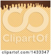 Clipart Of A Waffle Cone Texture And Chocolate Royalty Free Vector Illustration by Vector Tradition SM