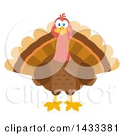 Clipart Of A Flat Design Styled Turkey Bird Royalty Free Vector Illustration