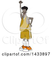 Clipart Of A Cartoon Black Male Protester Holding Up A Fist And Shouting Royalty Free Vector Illustration
