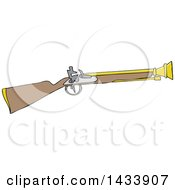 Clipart Of A Cartoon Blunderbuss Gun Royalty Free Vector Illustration
