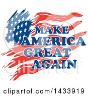 Clipart Of Make America Great Again Text Over A Flag Royalty Free Vector Illustration by Johnny Sajem