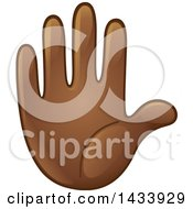 Cartoon Emoji Hand Counting 5 Gesturing Stop Or Raised