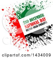 Clipart Of A Grungy United Arab Emirates National Day Design Over White Royalty Free Vector Illustration