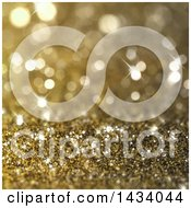 Clipart Of A Bokeh And Gold Glitter Background Royalty Free Illustration