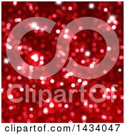 Clipart Of A Blurred Red Bokeh Flare Or Glitter Background Royalty Free Illustration
