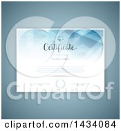 Clipart Of A Certificate Template With Sample Text Over Blue Royalty Free Vector Illustration