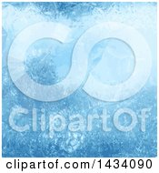 Clipart Of A Blue Ice Background Royalty Free Vector Illustration