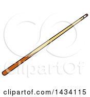 Poster, Art Print Of Cartoon Billiards Pool Cue Stick