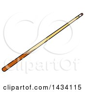 Clipart Of A Cartoon Billiards Pool Cue Stick Royalty Free Vector Illustration by LaffToon