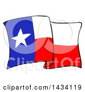 Cartoon Waving Texas Flag
