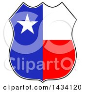 Clipart Of A Cartoon Texas Badge Royalty Free Vector Illustration by LaffToon