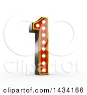 Clipart Of A 3d Retro Theater Light Bulb Styled Number 1 On A White Background With A Clipping Path Royalty Free Illustration by stockillustrations