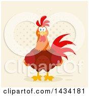 Chicken Rooster Bird Over Halftone