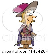 Clipart Of A Cartoon Man Charles De Batz Castelmore D Artagnan Royalty Free Vector Illustration