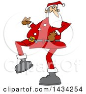Cartoon Christmas Santa Claus Strutting