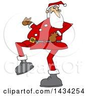 Cartoon Christmas Santa Claus Strutting